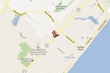 Anderson Lock And Security Map Surfside Beach, SC